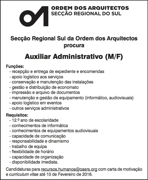 Oasrs Oasrs Procura Auxiliar Administrativo